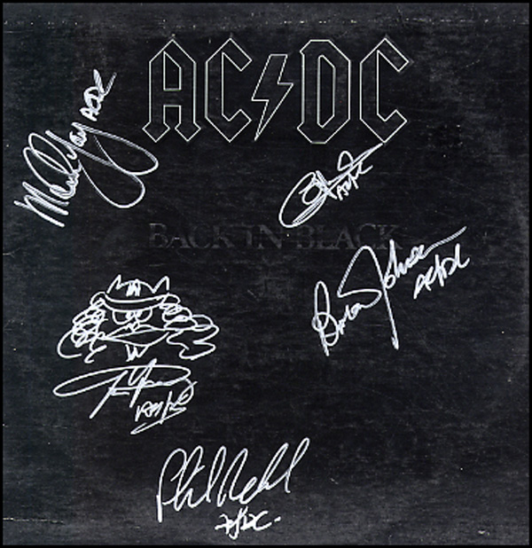 acdc autograph back in black