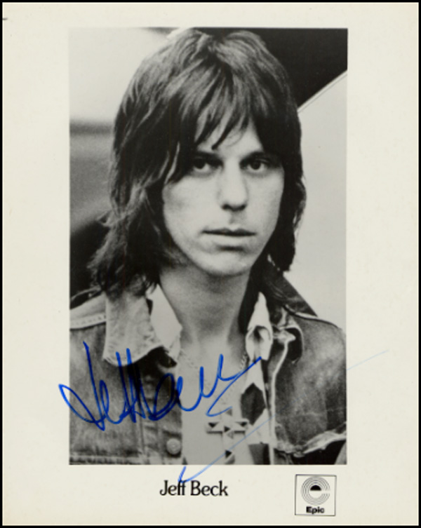 Jeff Beck Autographed