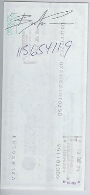 Brandon Lee signed check/document