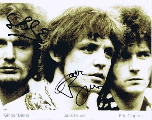 Jack Bruce and Ginger Baker Cream Autographs