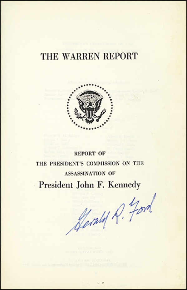 Gerald R Ford Autographs