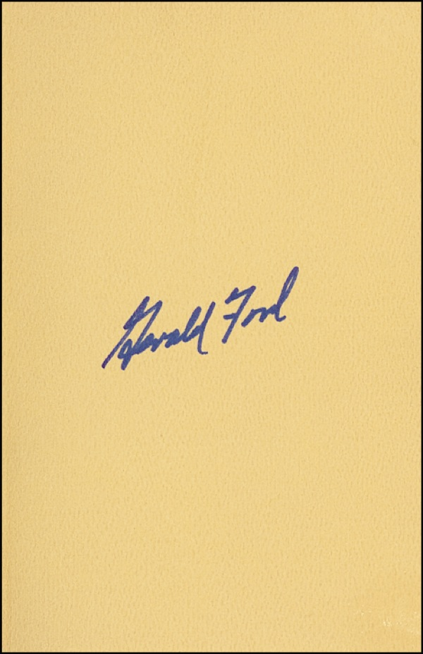 Gerald Ford Autograph