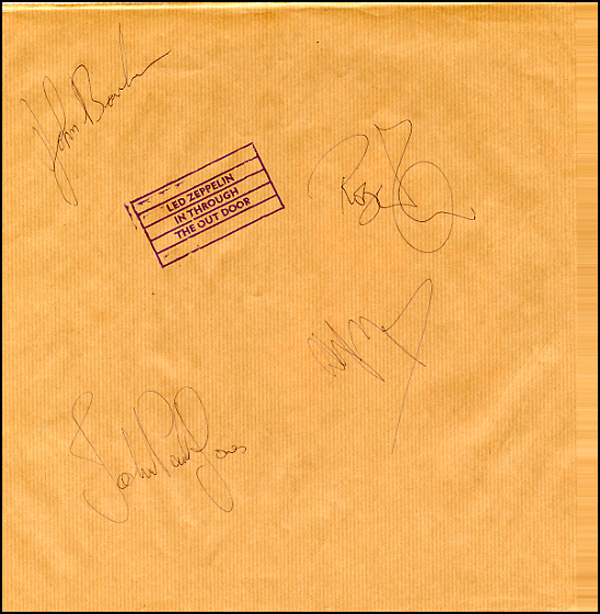 Led Zeppelin Autograph Examples