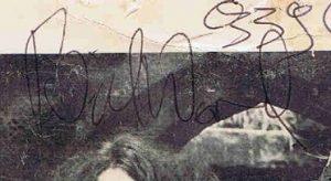 Bill ward autograph 1969
