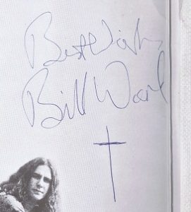 Bill Ward autograph 1971