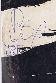 Bill ward autograph 1972