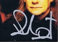 Bill ward autograph 1998