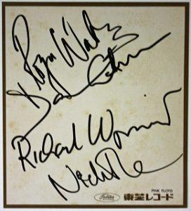 Bold Pink Floyd autographs