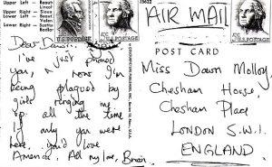 Brian Jones autograph postcard