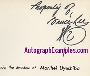 Bruce Lee autograph book