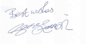 George Harrison autograph 3