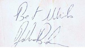 John Bonham autograph 1972
