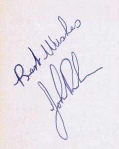 John Bonham autograph