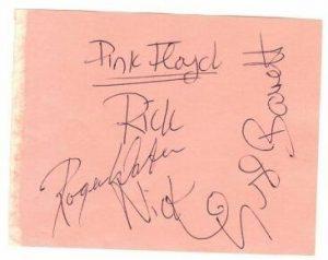 Original Pink Floyd autographs 3