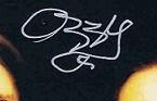 Ozzy Osbourne autograph 12