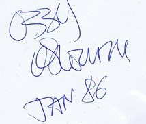 Ozzy Osbourne autograph 5