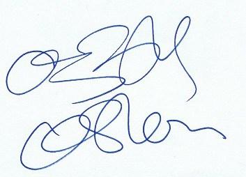 Ozzy Osbourne autograph 8