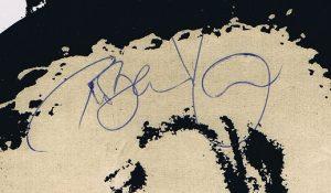 Robert Plant autograph 1977