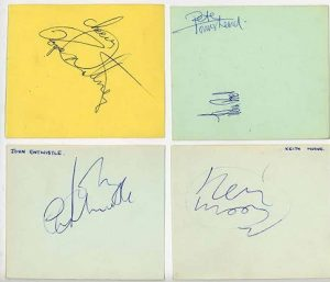 The Who Autographs 2