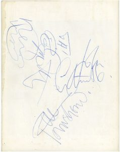 The Who autographs 1966-67