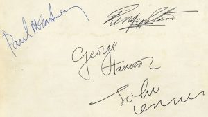 beatles autographs 1963
