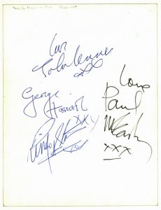 beatles autographs 1964