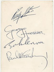 beatles autographs 1965
