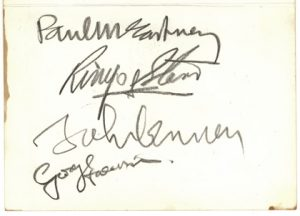 beatles autographs 1967