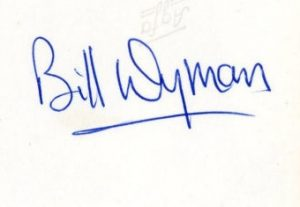 bill wyman autograph 1963