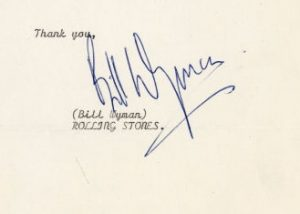 bill wyman autograph 1965