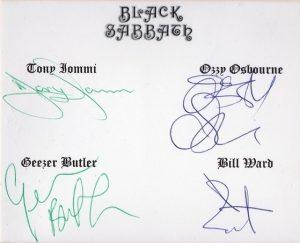 black sabbath autograph 11