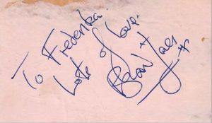 brian jones autograph 1964