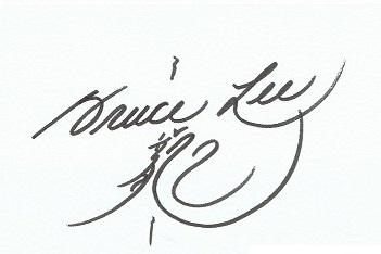 Bruce Lee autographs
