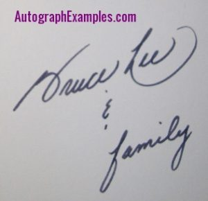 christmas card Bruce Lee autograph