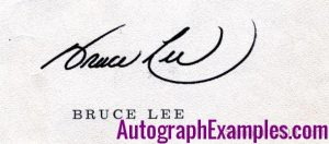 contract Bruce Lee autograph