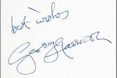 george harrison autograph 1983