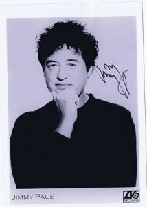 jimmy page autograph promo photo