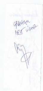 jimmy page autograph to graham