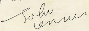john lennon autograph mid 1963
