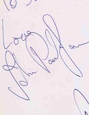 john paul jones autograph 1977