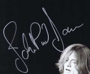 john paul jones autograph 2007