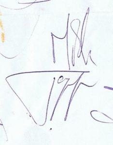 mick jagger autograph 1964