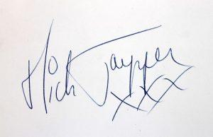 mick jagger autograph 3