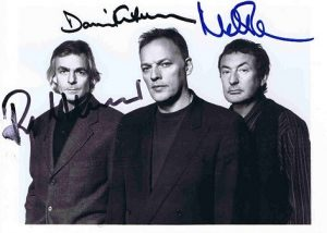 pink floyd autograph photo