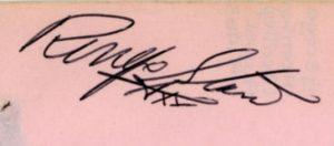 ringo starr autograph 1963