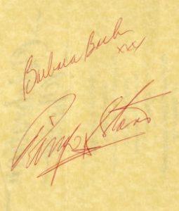 ringo starr autograph 1986