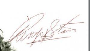 ringo starr autograph 70s