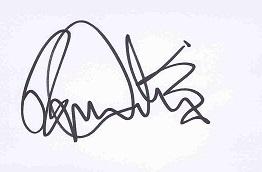 roger daltrey autograph 2006