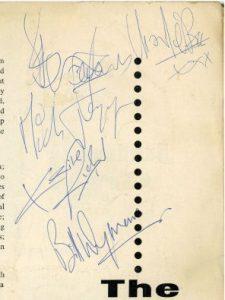 rolling stones autograph 1963