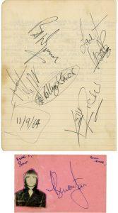 rolling stones autograph 1964 1